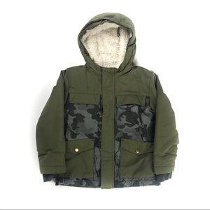 Camo Green Youth Winter Jacket/Coat Size: 5